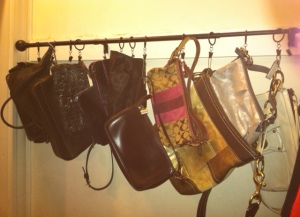 2013 01 07 Closet update - purse solution