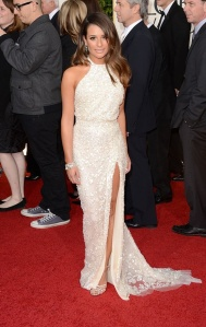 Lea Michele in Ellie Saab. Photo courtesy of movies.yahoo.com.