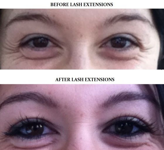 2013 03 07 Before and after lash extensions