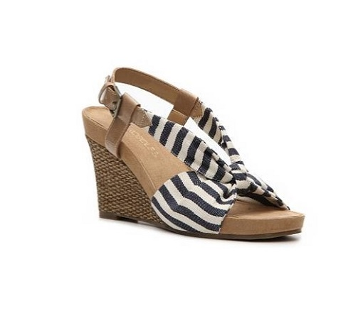 navy and white stripe wedges 510